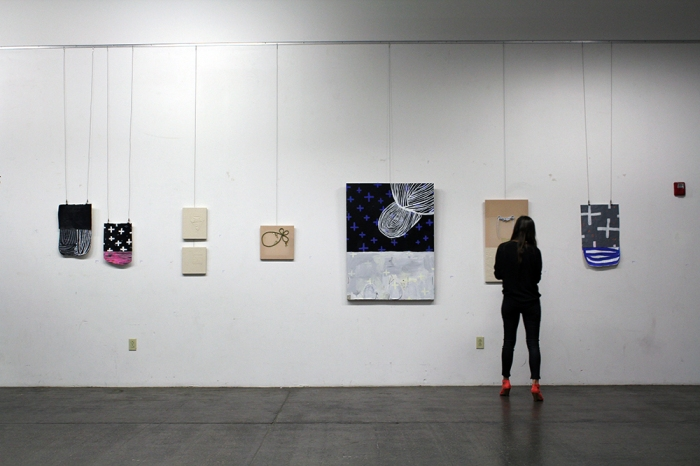 Works by Sarah Boyts Yoder and Camela Guevara at opening