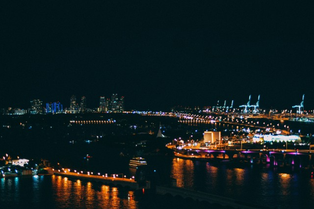 biscayne bay at night