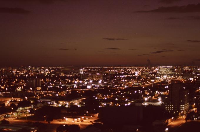 biscayne bay at night