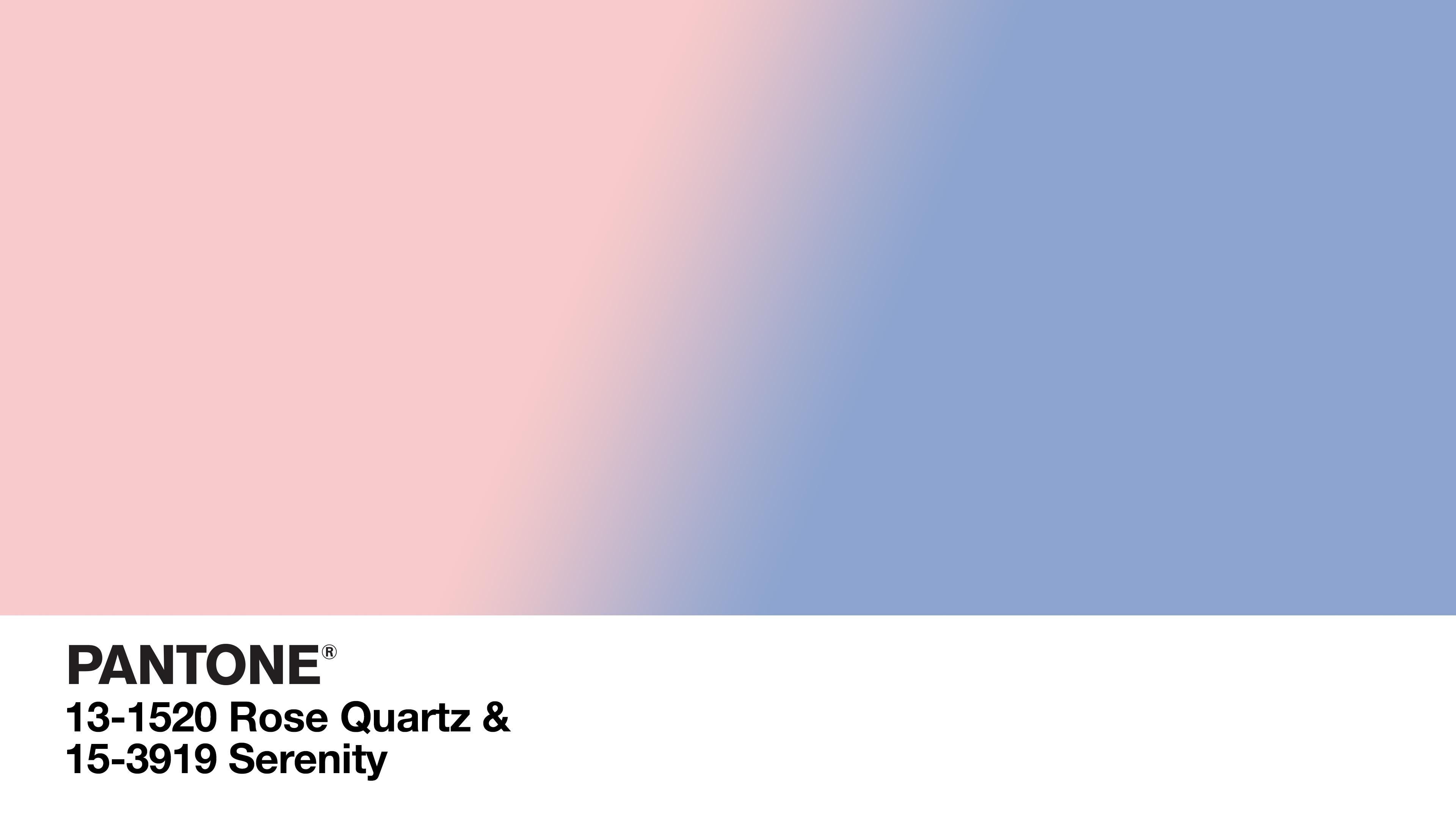 color story : rose quartz \u0026 serenity